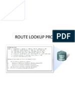 Route Lookup Proces