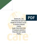 Modelo Manual de Procedimientos Administrativos