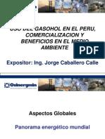 Uso Del Gasohol en El Peru