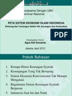 Peta Sistem Ekonomi Islam Indonesia (Peluang & Tantangan sektor rill, keuangan dan Perbankan). by. Agus Edi Sumanto