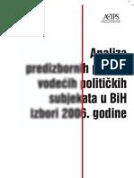 Analiza Predizbornih Poruka Vodecih Politickih Subjekata u BiH