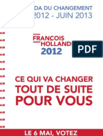 François Hollande. L'agenda du changement mai 2012-juin 2013