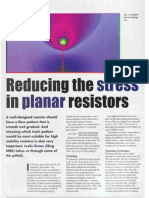 Reducing the stress in planar resistors