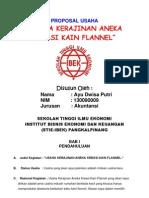 Proposal Usaha Flanel