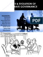 Nature and Evolution of Corporate Governance