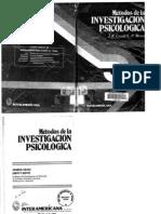 Craig Métodos de la Investigación Psicológica