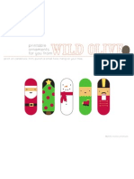 Printable Ornaments Santa