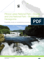 Feasibility study on establishing transboundary cooperation - NP Una - NP Plitvice