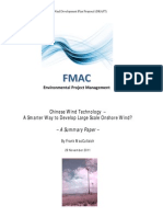 111129 Chinese Wind Technology_smarter Way for NZ_summary_FMAC