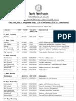 Date Sheet 3rd Year