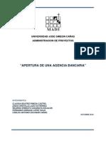 Apertura de Una Agencia Bancaria