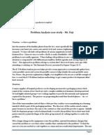 Problem Analysis Case Study