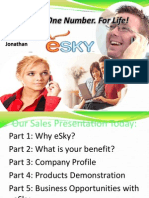 eSky Business Presentation and Pitch on 20120423
