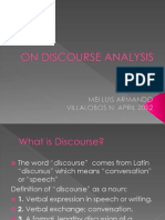On Discourse Analysis