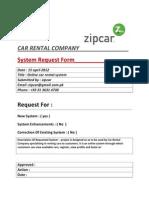 ( Request Form ) Car Rental System