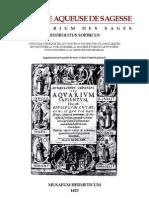 21234553 Alchimie Musaeum Hermetic Um La Pierre Aqueuse de Sagesse