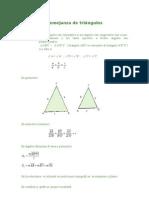 Semejanza de Triángulos
