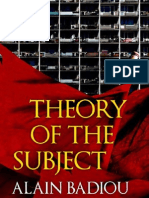 Theory of the Subject Extract
