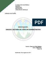 Origen e Historia Del Derecho Administrativo E 502
