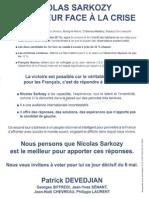 tract Devedjian soutient sarkozy 2nd tour présidentielles 2012