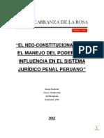 NEOCONSTITUCIONALIMO Y SUS POSIBLES INFLUENCIAS EN EL SISTEMA PUNITIVO PERUANO. por  ELHYN CIRO CARRANZA  DE LA ROSA