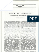 EVELYN THE TRUCK-DRIVER. An American Girl With the Spanish Armies by Leland Stowe