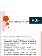 EL GÉNERO DRAMÁTICO