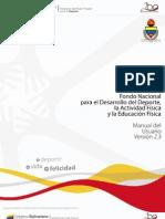Normativa  para la Inscripción en el Fondo Nacional del Deporte