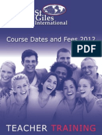 Teacher Training Fees 2012