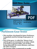 Parkinson Gear Tester Metrology