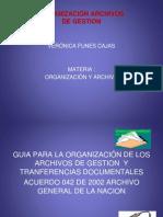 organizacionyarchivo-111102230923-phpapp01