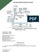 28) Receita De Tricô Á Máquina - Colete Em 3 Fios Lã Industrial Fios Amparo 2/28 - Cava Redonda PARTE COSTAS-T-50 / 52 (400 a 500 gramas de Lã)