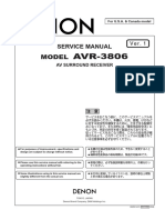 DENON AVR-3806 Parts List, Service Manual