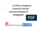 Benefits of TNA or Employee Performance in Private Commercial Banks of Bangladesh