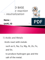 Acid Base - Neutralization