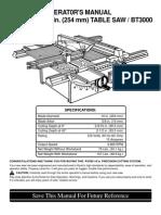 BT3000 Manual