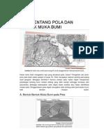 Peta Tentang Pola Dan Bentuk Muka Bumi