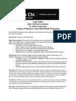 Rho Chi Post - Seeking a Copy Editor