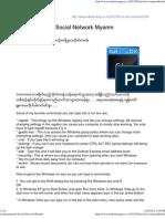 Ar International Social Network Myanm