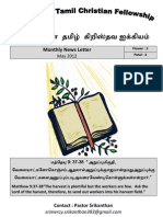 Wellington Tamil Christian Fellowship News Letter May 2012