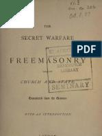 The Secret Warfare of Freemasonry - G Pachtler (1875)