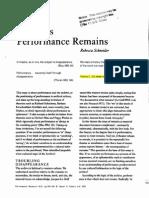 Archives (Performance Remains) - Schneider