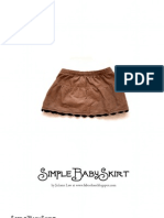 Simple Baby Skirt Pattern