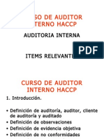 CURSO de Auditoria HACCP