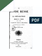 Le monde russe et la révolution