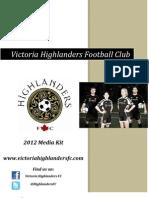 2012 Victoria Highlanders Media Kit