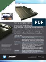 T Zone Hydronic Panel Datasheet