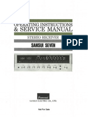 Service Manual: Operating Instructions