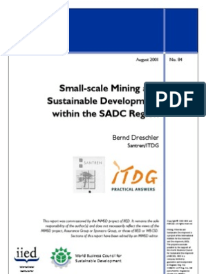 Small-Scale Mining and Sustainable Development Within the