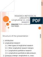 Longitudinal and Cross-Sectional Research